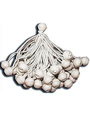 KMH® 50 gommes de rideau, Ball Bungee, élastiques corde élastique, aussi pour rideaux pour fêtes et événements (# 303025)