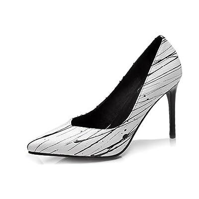 24fa40dfd072bd Chaussures pour femmes Cuir véritable Bureau Bout pointu Fête et soirée  Talon aiguille Pompes Taille 36To40