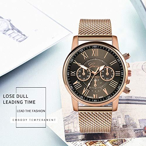 Pocciol Fashion Military Stainless Steel Quartz Watch Womens Casual Watch Luxury Analog Wristwatch (Black) by Pocciol Cheap-Nice Watch (Image #1)