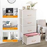 COSYLAND 4 Drawer Dresser Storage Tower, Fabric