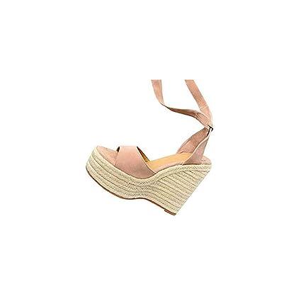 9eb2b9a86c89b Amazon.com: ❤ Mealeaf ❤ Womens Fashion Open Toe Wedges Thick ...