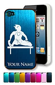 Engraved Aluminum iPhone 4/4S Case/Cover - HURDLES WOMAN - Personalized for FREE (Click the CONTACT SELLER button after purchase and send a message with your case color and engraving request)