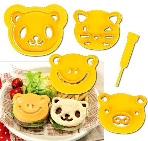 CuteZCute Animal Friends Food Deco Cutter and Stamp Kit