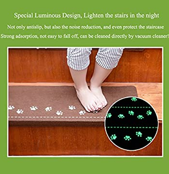 Lalago Paw Pattern Luminous Carpet Stair Tread Mats - (21.65