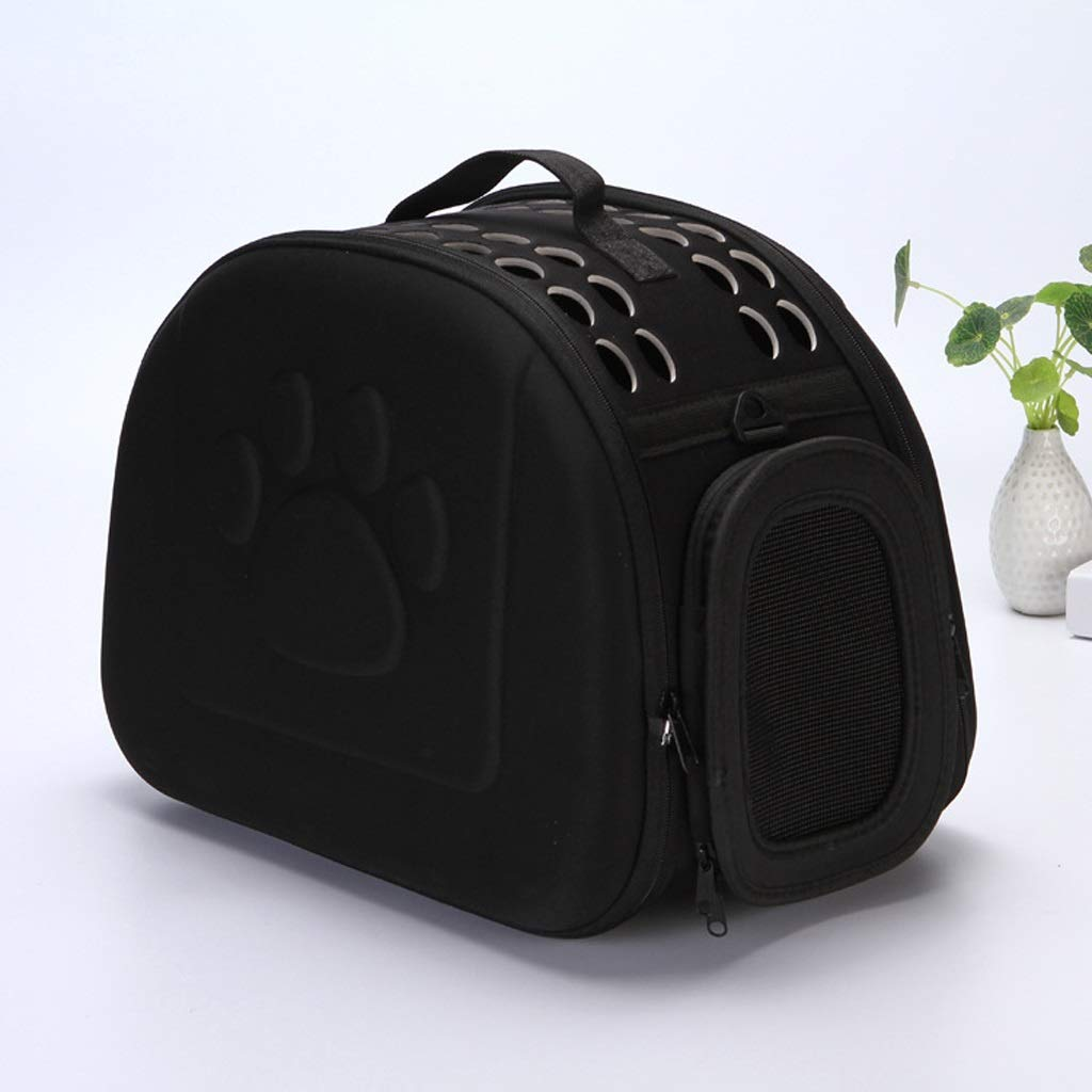 BYWSD Pet Backpack Pet Carrier Travel Bag Breathable Folding Outdoor Pet Bag for Small Dogs and Cats Collapsable Portable Airline Approved,16.5x10.2x13.8 Inch Walking,Travel,Hiking,Camping