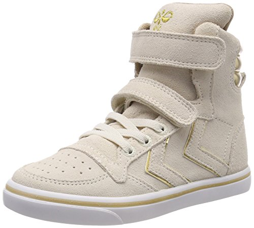 Hummel Unisex-Kinder Slimmer Stadil Metallic Jr Hohe Sneaker Elfenbein (Pristine White)