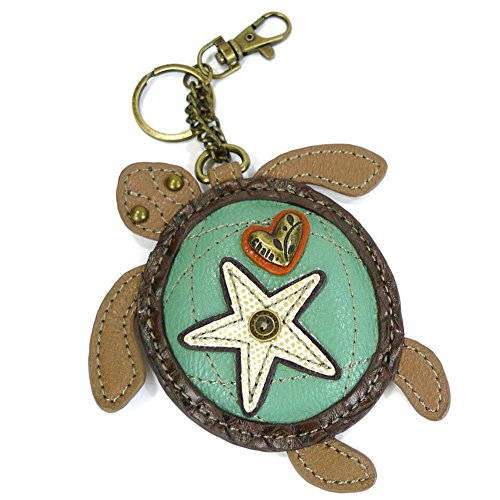 Chala Detachable Coin Purse - Key Fob (Turtle) for Wristlet or - Turtle Purses