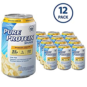 Pure Protein Ready to Drink Shakes, High Protein Banana Cream, 11oz, 12 count