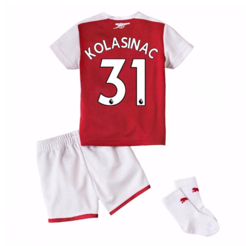 2017-18 Arsenal Home Baby Kit (Kolasinac 31) B077PRX92NRed 9-12 Months
