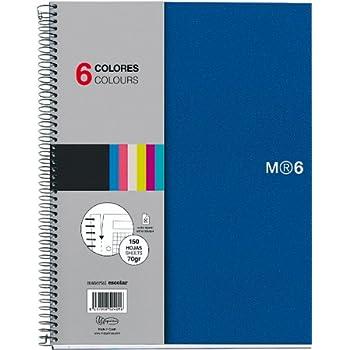 Miquelrius 8.5 x11 Wirebound Notebook, 6-Subject, College Ruled, Blue