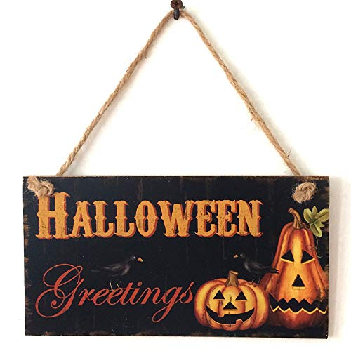 Boutique Sale,KIKOY Happy Halloween Wooden Pendant Door Decorations Hanging Party Decoration]()