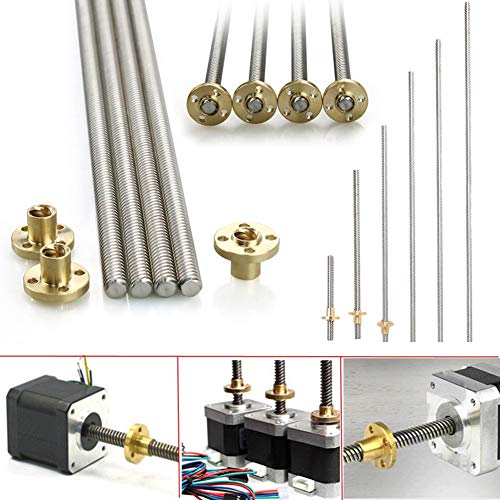 (8mm Acme Threaded Rod Stainless Steel Leadscrew+T8 Nut for CNC 3D Printer Reprap)