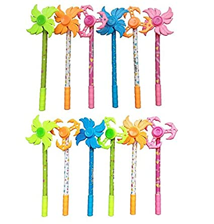 OrderWishes Spinner Gel Pens Pack Of 12 Kids Birthday Return Gifts Amazonin Office Products
