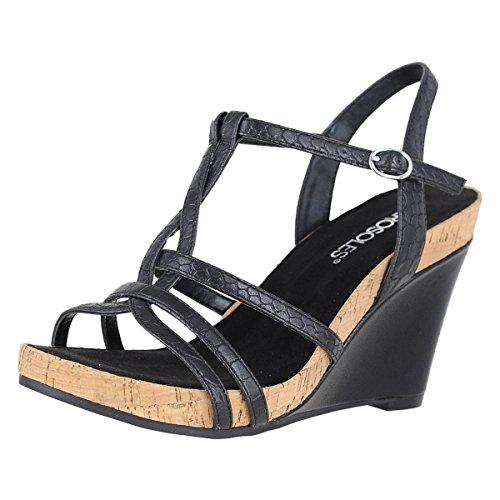 Aerosoles Womens Sandalo Con Zeppa In Sandalo Nero