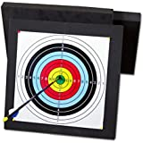 Archery Block Target for Shooting Practice 2-Sided Targets Stop Arrows Instantly, with Dots Spray Printed Taget Paper