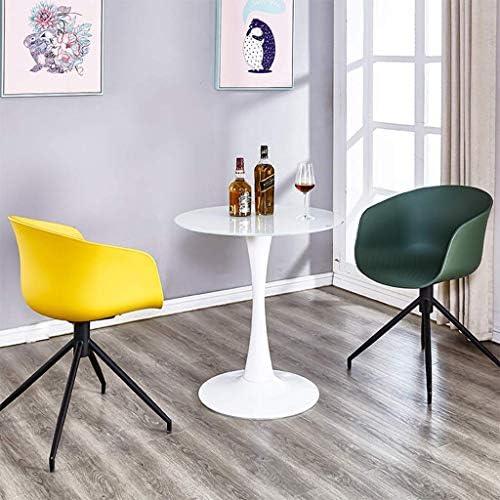 shengshiyujia Chaise de Salle à Manger Moderne Iron Art Fauteuil avec accoudoir épaissir Le Tabouret de Loisirs créatif en Plastique