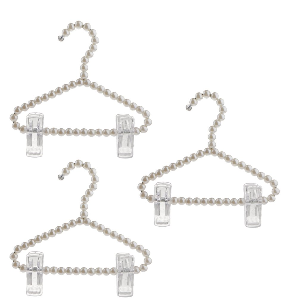 Sharplace Perle Kleiderbügel Kinder Baby Kinder Kleiderbügel Kunststoff Kleiderbuegel Länge 20 cm - typ1 Rosa + Weiß