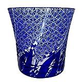 Sapphire Blue Fancy Hand Cutting Drinking Glass, 8