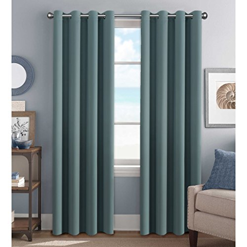 H.Versailtex Premium Blackout Thermal Insulated Room Darkening Curtains for Bedroom/Living