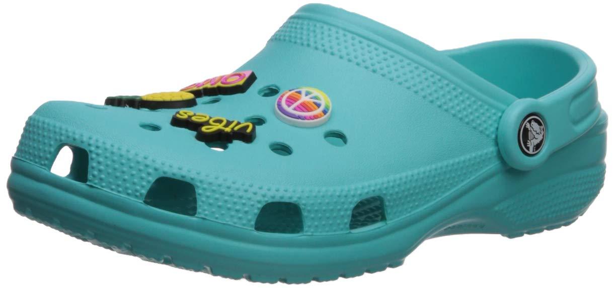 Crocs  Classic Jibbitz II Clog Shoe, pool, 4 US Men/ 6 US Women M US
