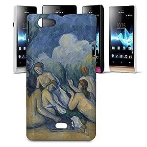 Phone Case For Sony Xperia Miro - Cezanne Bathers Art Painting Hard Hardshell
