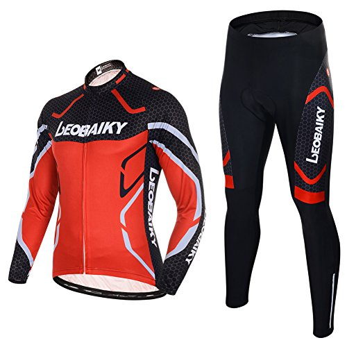 Maxmer Cycling Clothing Sets Suit Men Full Zip Long Sleeve Cycling Jersey  Jacket Road Mountain Bicycle Sportswear Running Clothes Breathable Quick  Dry ... 4353d7b88