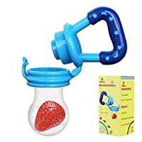 Biubee Baby Food Feeder-Silicone Teether Nibbler with Fresh Fruits Vegetable ...