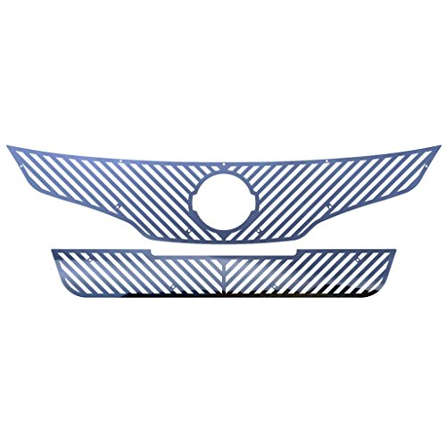 Ferreus Industries Polished Stainless Vertical Billet Grille Grill Insert Trim fits: 2010-2012 Nissan Altima 4 Door Sedan TRK-155-02