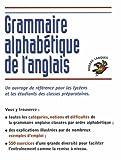 Image de Grammaire alphabétique : Anglais