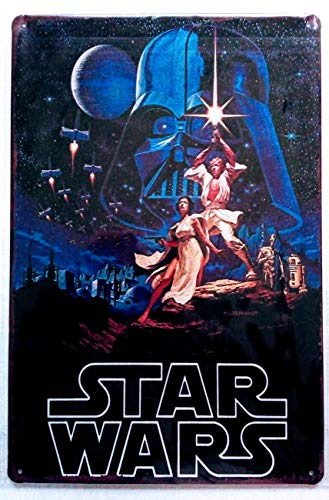 (Pish Posh Llc Vintage Tin Sign Decor, Star Wars New Hope)