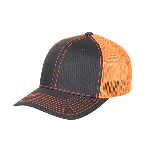 Richardson Twill Mesh Back Trucker Hat with Adjustable Plastic Snapback