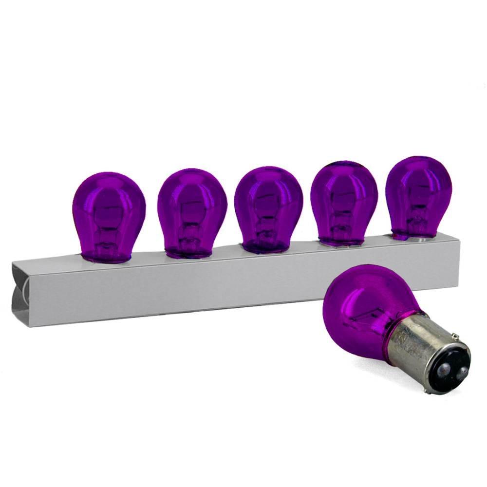 LAMPADA STOP BAY15D 12V21 / 5W VIOLA ( confezione da 10 ) TNT