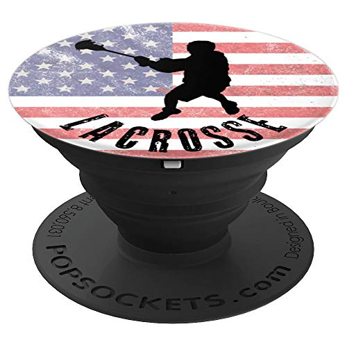 Lacrosse Gift Come At Me Bro College Collegiate Athlete Fan - PopSockets Grip and Stand for Phones and Tablets