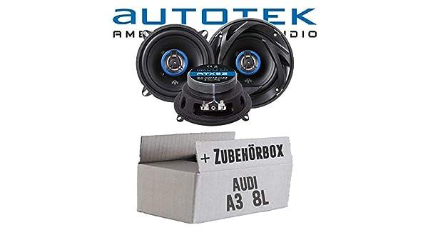 Audi A3 8L - Altavoces Cajas autotek ATX de 52 | Altavoz coaxial de 2 Vías 13 cm 165 mm Auto Juego de Instalación de Accesorio - Instalación: Amazon.es: ...