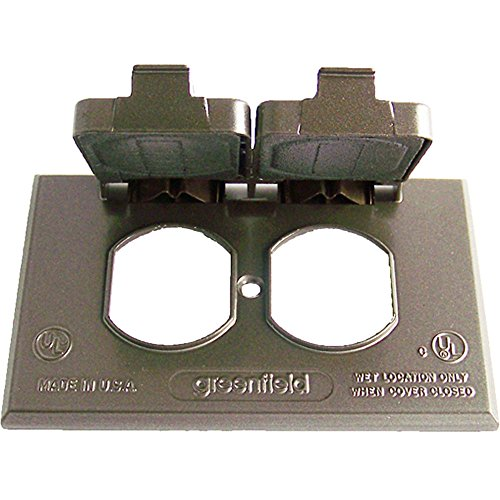 Greenfield CDRHBRS Series Weatherproof Electrical Outlet Box Cover, Bronze