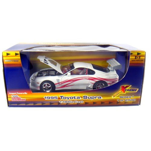 - 1995 Toyota Supra Import Tuners 1:18 Scale (White/Red Stripes)