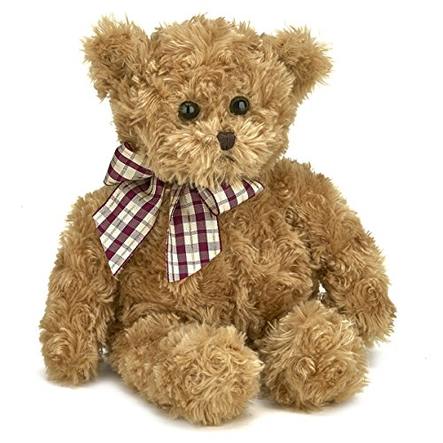 Bearington Baby Wuggles Plush Stuffed Animal Teddy Bear, Brown (Old Teddy Bear)