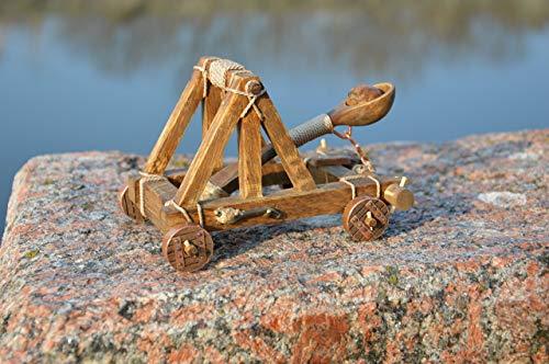 Handmade WORKING Desktop Catapult! -