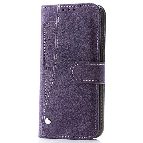Flip Book Case for Samsung S10 Plus Case S10e S10 lite PU Leather Stand Wallet Case for Samsung S8 S9 NOTE9 Case Cover Conque,Purple,for Samsung S9