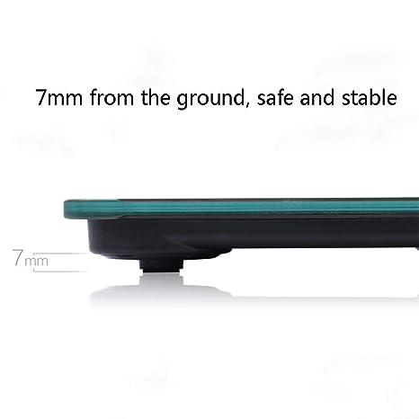 ZYY Básculas electrónicas, básculas de baño Digitales Inteligentes Recargables por USB, ultrafinas (Color