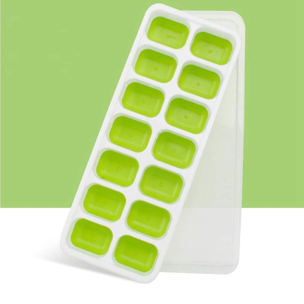 Bandeja del cubo de hielo bandejas flexibles del cubo de hielo moldes de silicona de grado alimenticio hielo Moldes bola de hielo contenedores de ...