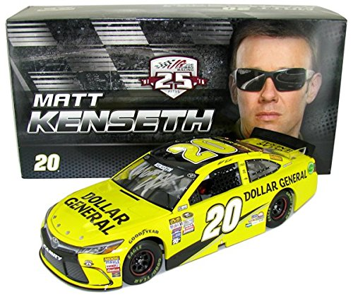 autographed-matt-kenseth-2016-dollar-general-124-scale-diecast-car-includes-certificate-of-authentic