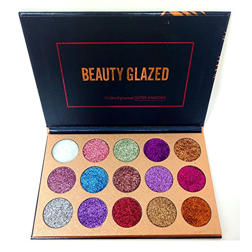 Beauty Glazed Eyeshadow Palette Ultra Pigmented Mineral Pressed Glitter Make Up Eye Shadow Powder Flash Colors Long Lasting Waterproof 15 Colors - Makeup Palette