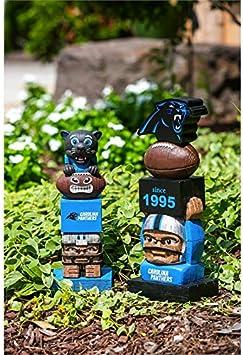 18.50 X 7.30 X 6.50 Carolina Panthers Tiki Totems Garden Statues