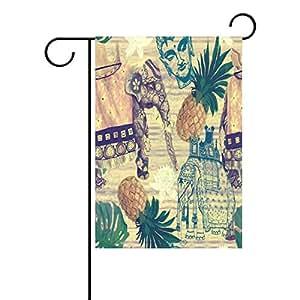 wozo antiguo indio elefantes jardín bandera piña frutas Animal poliéster bandera al aire libre casa fiesta