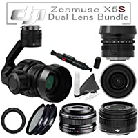 DJI Zenmuse X5S Camera and Gimbal with CinemaDNG Dual Lens Bundle: Includes DJI MFT 15mm F/1.7 Lens & Olympus 17mm f/1.8 Lens with Filter Kit and more...