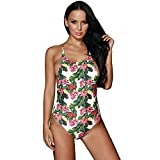 Best Thymes Body Wraps - BYY Tropical Print Ladder Back One Piece Swimsuit(Size,L) Review