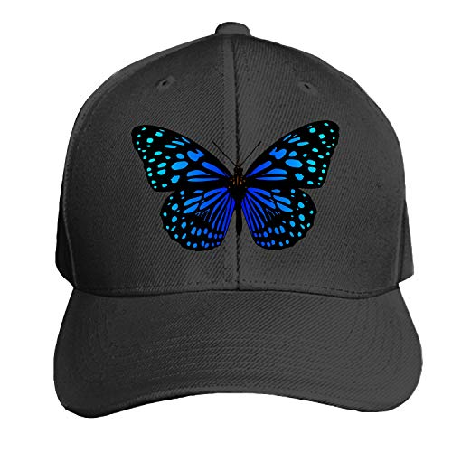 (Butterfly Unisex Washed Twill Baseball Cap Adjustable Peaked Sandwich Hat)