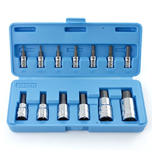 Capri Tools CP30002 S2 Hex Wrench Bit Socket Sets, Silver ()
