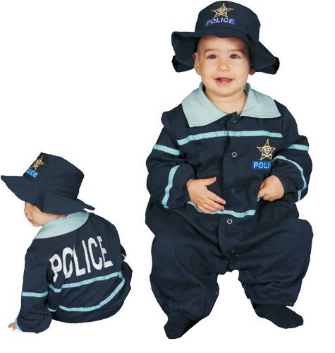 Dress Up America Baby Police Officer Costume, Blue, 12-24 Months